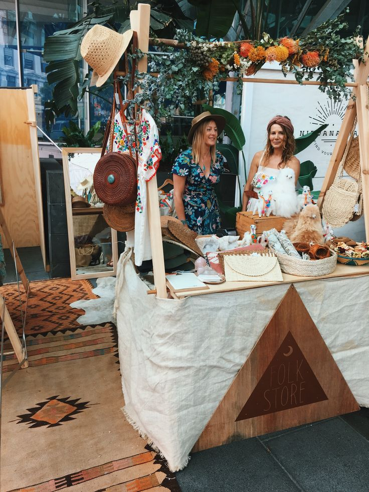 boho luxe folkstore stall
