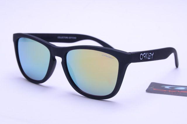 2016 Oakley Frogskins Glasses onsale Black Frame Silver Lens