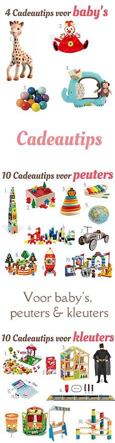 Cadeautips voor baby's, peuters en kleuters, bijvoorbeeld voor Sinterklaas, Kerst of verjaardag. van: www.mizflurry.nl #sinterklaas   #cadeautjes  #tips #baby #peuter  #kleuter