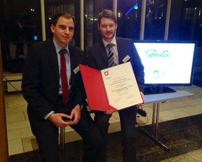 Yes! Wir haben den Innovationspreis Schaumburg 2013 gewonnen! Danke für die Glücklwünsche, Maik Beermann. ;-)