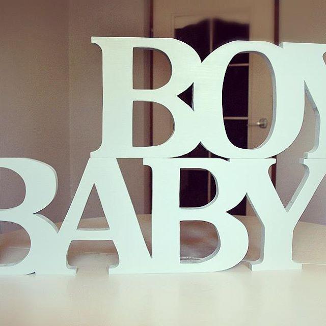 BABY BOY 👶 #vsco #vscocam #wood #wooden #letters #woodworking #babyblue #literydrewniane #drewno 💙  #pokoikdzieciecy #nursery