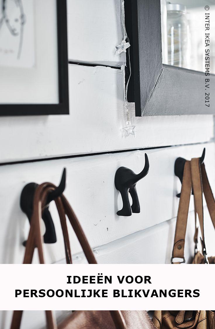 Tover alledaagse spullen om tot échte blikvangers! Voeg speelse accenten toe aan je interieur zoals de BÄSTIS haken voor je tassen of jassen. Zo heb je alles meteen ook bij de hand. Ontdek onze ideeën. BÄSTIS Haak, 2,50/st. #IKEABE #IKEAidee Turn everyday objects into displays! Make room for playful touches such as these BÄSTIS hooks for bags and jackets to keep them accessible and organised. BÄSTIS Hook, 2,50/pce. #IKEABE #IKEAidea