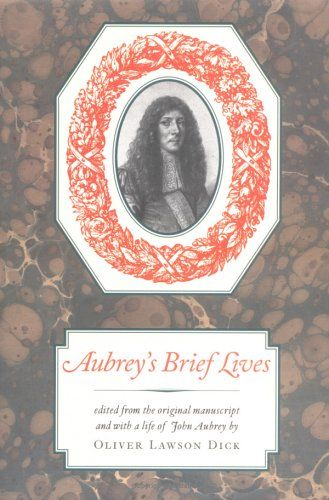 Amazon.com: Aubrey's Brief Lives (Nonpareil Books) (9781567920635): John Aubrey, Oliver Lawson Dick, Edmund Wilson: Books
