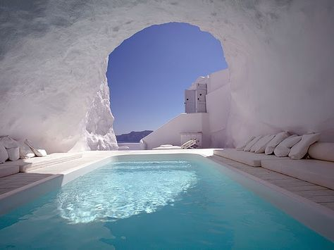 Where is this? I want to swim here. Actually, float would be even better. ;) (edit: Katikies resort in Santorini, thanks ilikeitdontyou!)