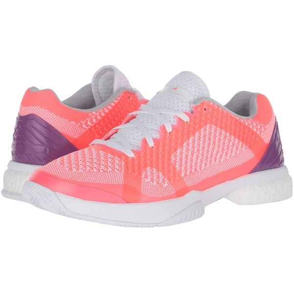 adidas aSMC Barricade Boost (Flash Red/White/Pop Purple) Women's... ($150) ❤ liked on Polyvore featuring shoes, athletic shoes, lace up shoes, fleece-lined shoes, purple tennis shoes, red tennis shoes and adidas footwear