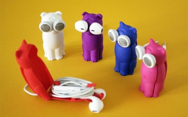 Tareq mirza bud-E 3D printed printing kickstarter dog cat earphones printed in 3D puddy kitty 1