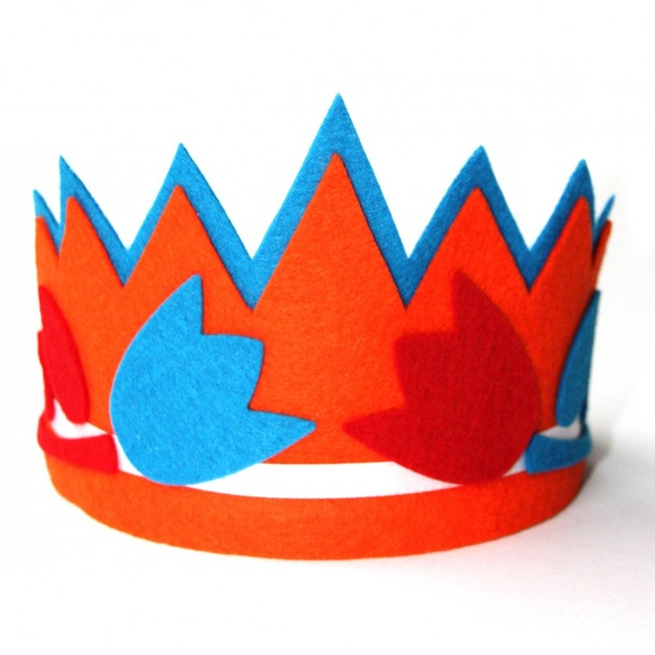 DIY CRAFTS Vilten kroon... speciaal om te dragen door prinsesjes bij Koninginnedag en alle andere Hollandse evenementen!
