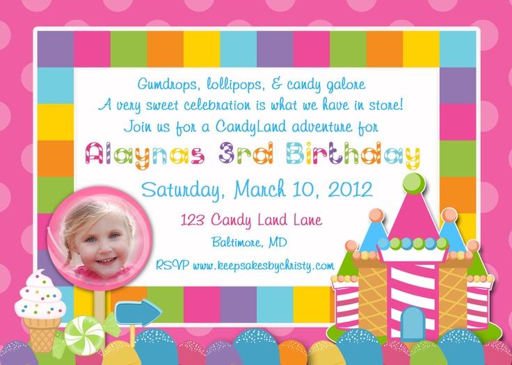 111 best candyland invitations images on pinterest birthday candyland invitations stopboris Choice Image
