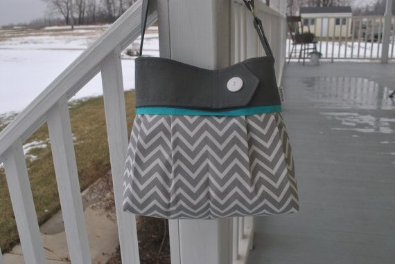Hey, I found this really awesome Etsy listing at https://www.etsy.com/listing/225670632/grey-and-teal-chevron-purse-chevron-with