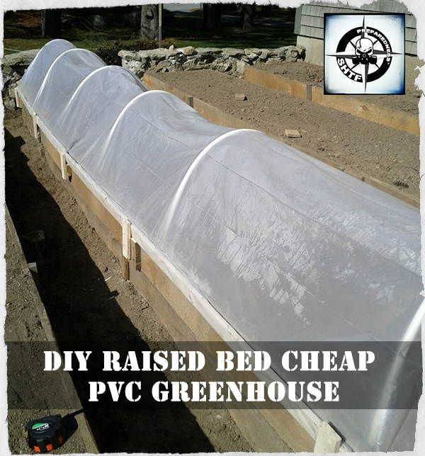 Best 25 pvc greenhouse ideas on pinterest pvc for Cheapest way to make raised beds