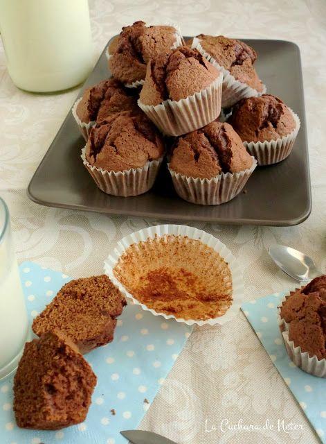 Magdalenas de chocolate y brandy // Chocolate & brandy cupcakes