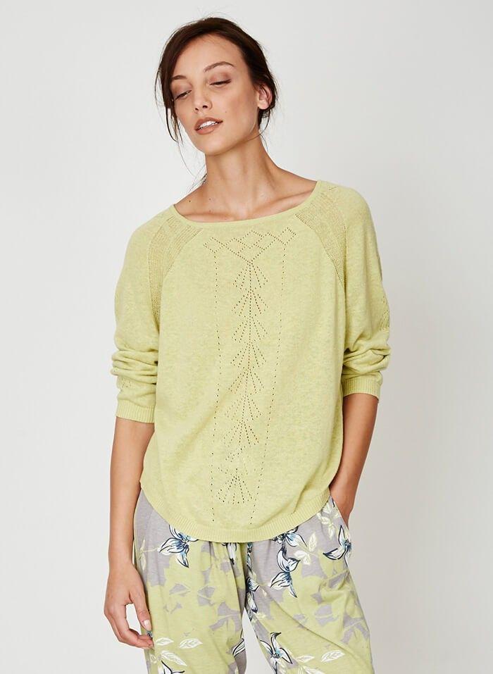 Annabel Hemp Knit Top Cactus