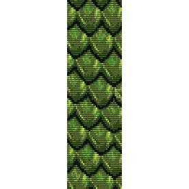 Loom Bead Patterns | DRAGONSCALE GREEN - LOOM beading pattern for cuff bracelet (buy any 2 ...