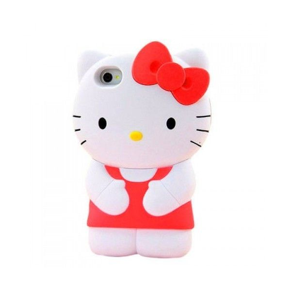 3D Figure Hello Kitty iPhone 5 Case ($1.49) ❤ liked on Polyvore