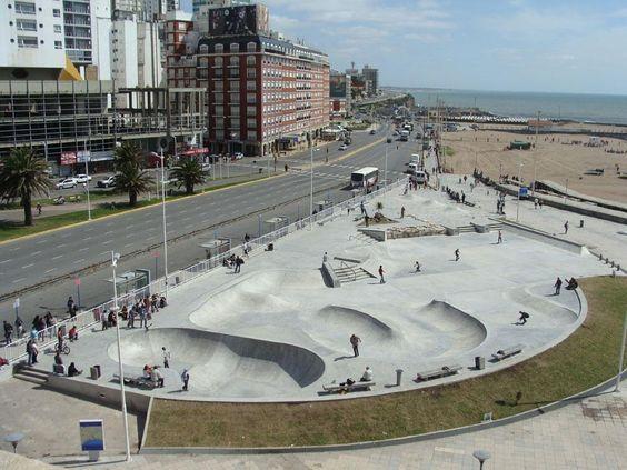 Mar del Plata, Argentina. View of the Bristol Skatepark.