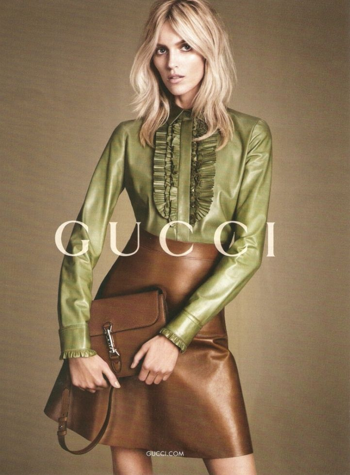gucci fall winter 2014 campaign3 First Look: Gucci Fall 2014 Campaign with Natasha Poly, Anja Rubik + More