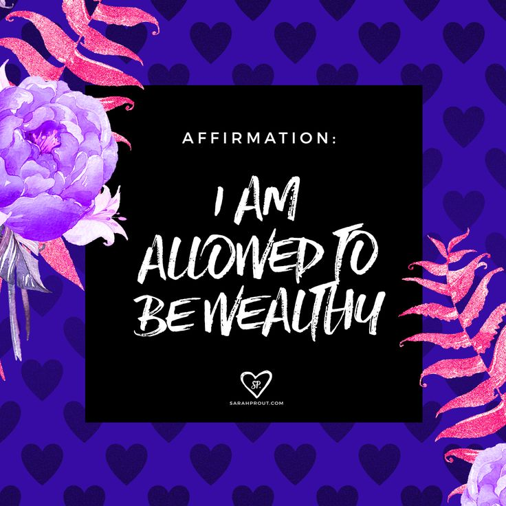 ‪#‎affirmation‬: I am allowed to be wealthy. Yes you are!! So many people get in their own way and create energetic blocks around creating abundance. This is because of patterning in childhood, certain belief systems, as well as issues of worthiness. The
