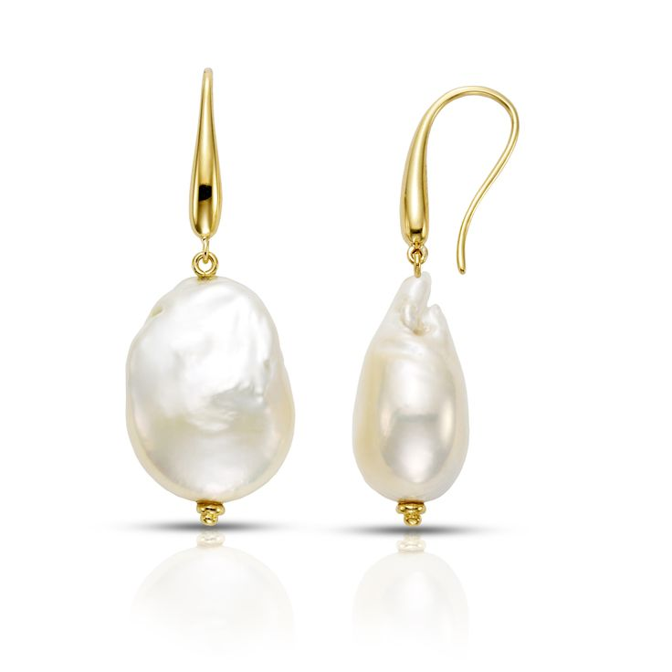 Large, baroque pearl drops
