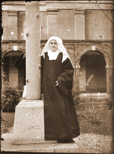 sainte-Therese-de-Lisieux as a novice at the Lisieux Carmel