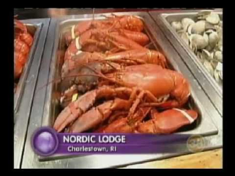 ▶ Nordic Lodge, Charlestown RI all You Can Eat Lobster Buffet - Well ok!!!!!!!!!