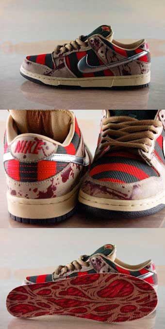 Nightmare on elm street Dunks - A shoe that couldnt be released #wanted #nightmare #dunks #nike