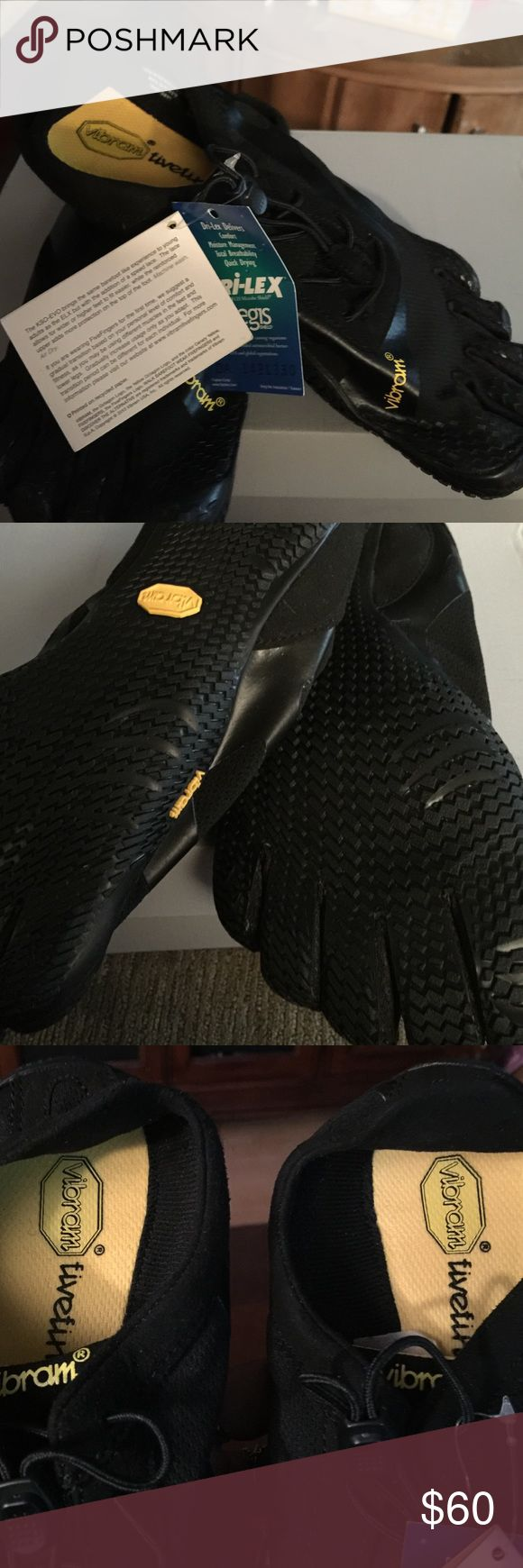Vibram five finger shoes!! I have these brand new five finger shoes, only been tried on, but they're a little tight, lost the receipt so I decided to sale!! They are not true to size, there a 11, but fit like a 10!! Love them,  I'm sure you will too!! vibram fivefinger Other