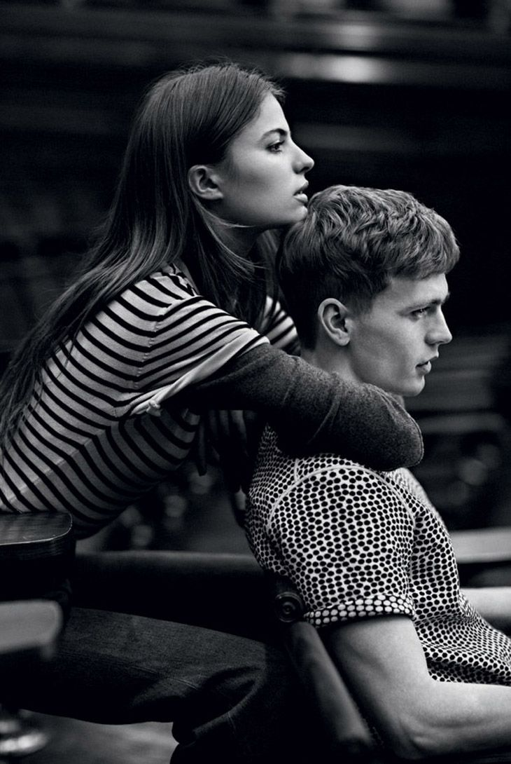 Cameron Russell & Benjamin Eidem for Man About Town