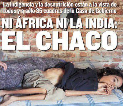 chaco es una de las zonas mas afectadas por la desnutricion