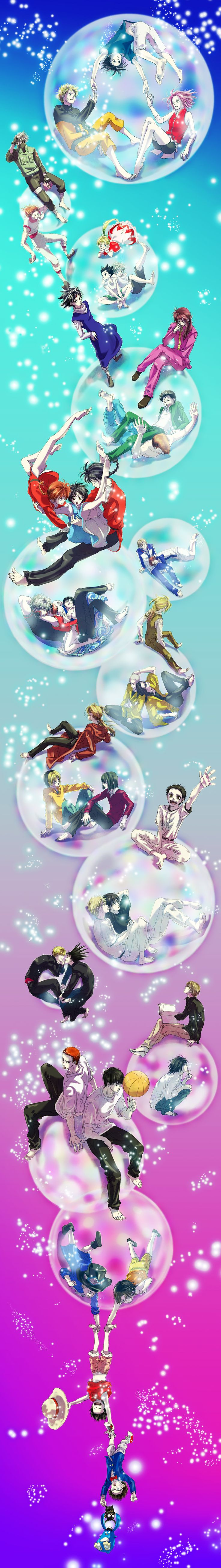 Death Note, Detective Conan, FMA, Gin Tama, Hikaru no Go, Hunter x Hunter, Kyou Kara Ore wa, ONE PIECE, Ookiku Furikabutte, Prince of Tennis, Ranma ½, Slam Dunk, Yu Yu Hakusho, Eyeshield 21, Naruto.