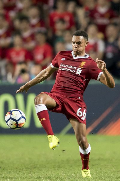 Liverpool FC defender Trent Alexander-Arnold in action during the Premier League Asia Trophy match between Liverpool FC and Leicester City FC at Hong Kong Stadium on July 22, 2017 in Hong Kong, Hong Kong.
