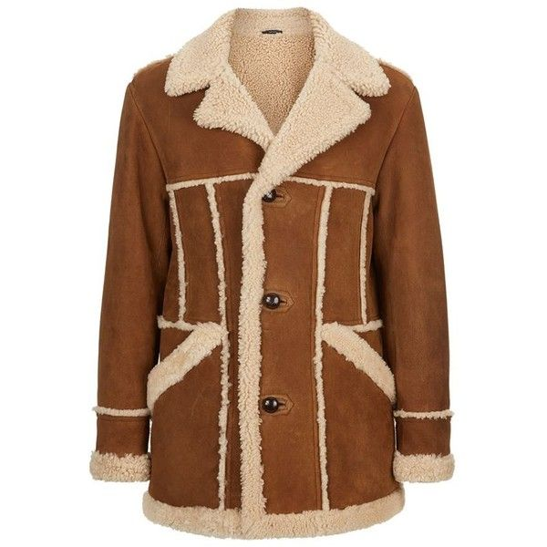 TOM FORD Shearling Caban Coat ($8,200) ❤ liked on Polyvore featuring mens, men's clothing, men's outerwear and men's coats