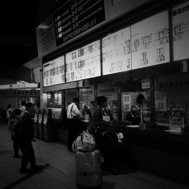 切符売り場の長ーい路線図。 #station - @tetsuyak9- #webstagram