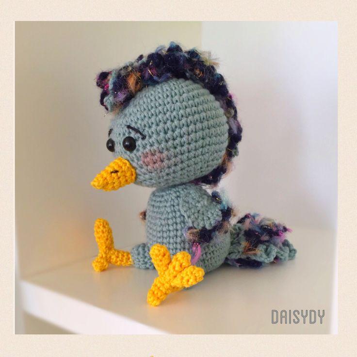 Bluebird   Pattern by amigurumi.today/crochet-bird-amigurumi #crochet bird #handmade