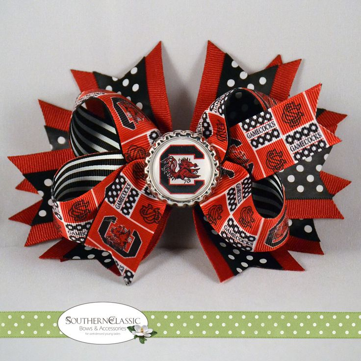 A personal favorite from my Etsy shop https://www.etsy.com/listing/556215953/south-carolina-gamecocks-game-day-hair