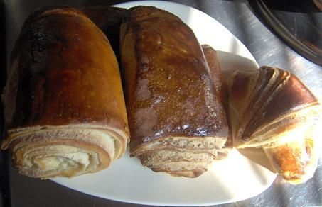 Pains chocos et croissants