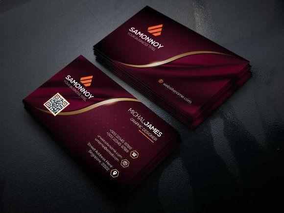 Business Cards By Samonnoy On Creativemarket Elegant Business Cards Design Business Card Layout Design Business Cards Layout