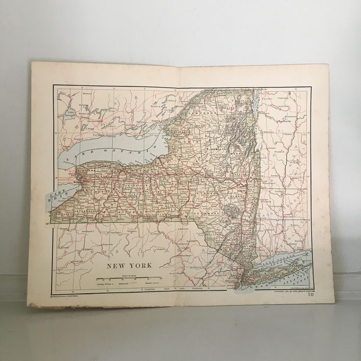 Map Usa States Abbreviations%0A      NEW YORK MAP  antique lithograph  maps of the United States of  America  U S A   East Coast  New England old maps in color