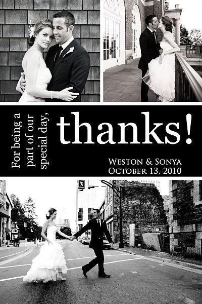 Photo Wedding Thank You Card