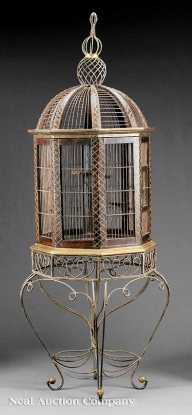 217 best images about bird cages on pinterest one kings for Cage d oiseau decorative