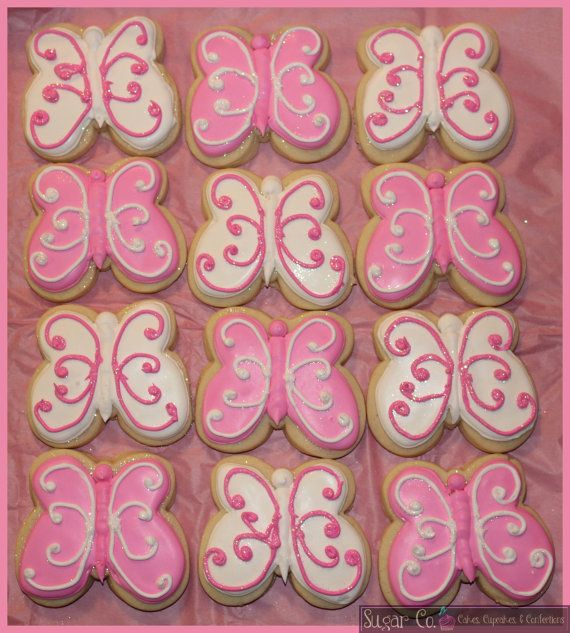 Sparkly Butterfly Cookies by TheSugarCo on Etsy, $25.00