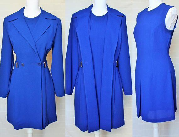 Classic Ensemble Designer Joseph Ribkoff Dress Jacket Royal Blue Kate Midleton Princess Diana Deux Piece Timeless Suit Retro Set 80s Large Check out this item in my Etsy shop https://www.etsy.com/uk/listing/578350739/classic-ensemble-designer-joseph-ribkoff