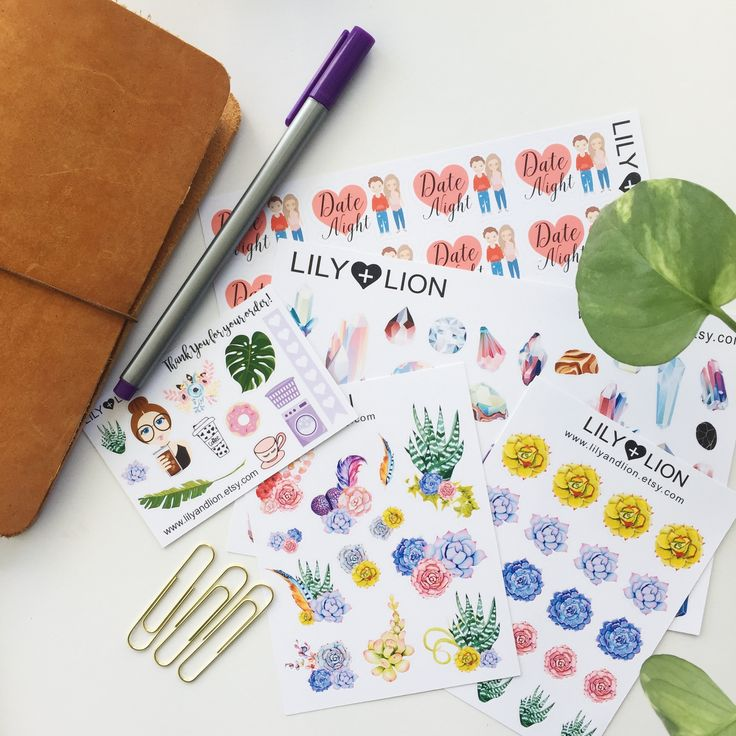 Lily and Lion haul! Beautiful planner stickers.