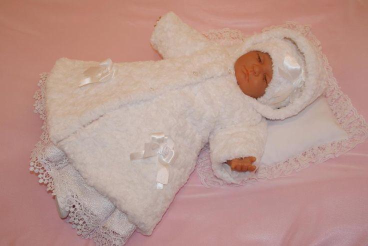 * Ubranko do chrztu sukienka komplet ŚNIEŻKA R-68