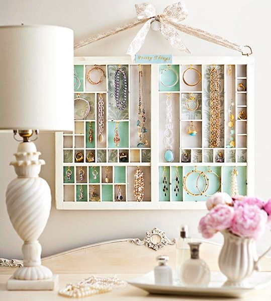 Add Style With Salvage Finds - Technology has made the printer's tray practically obsolete but the tiny divided spaces are perfect for modern storage solutions including craft or sewing supplies, toys, or as a jewelry display.