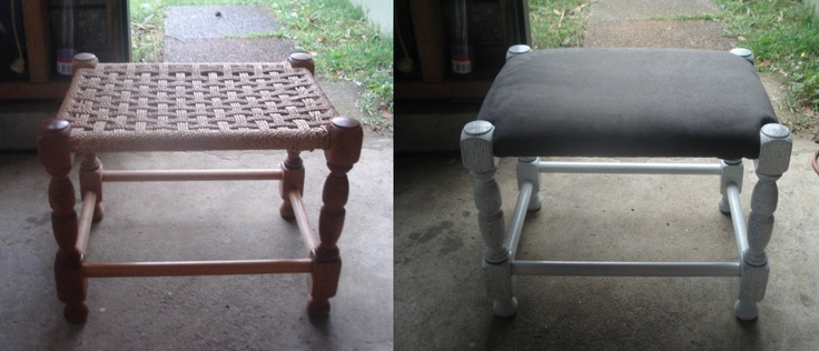 DIY Project - Foot stool   Before ----> After :D