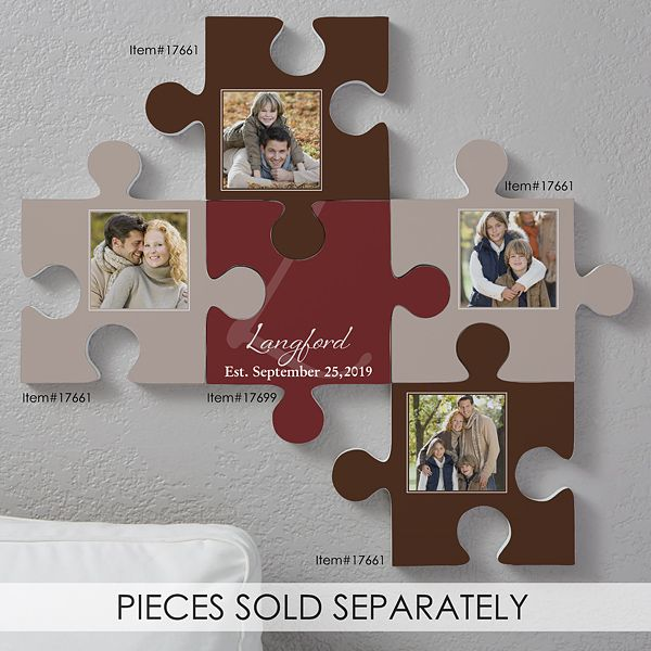 Family Name Personalized Puzzle Piece Wall Decor Wall Puzzle Personalized Wall Plaques Family Frame Wall