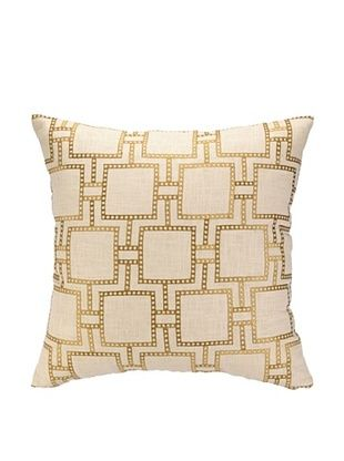 64% OFF Peking Handicraft Dotted Line Pillow, Citron