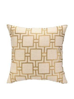 64% OFF Peking Handicraft Dotted Line Pillow, Citron