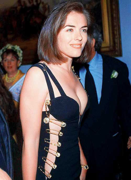 liz hurley and the versace safety pin dress | the mass ...
