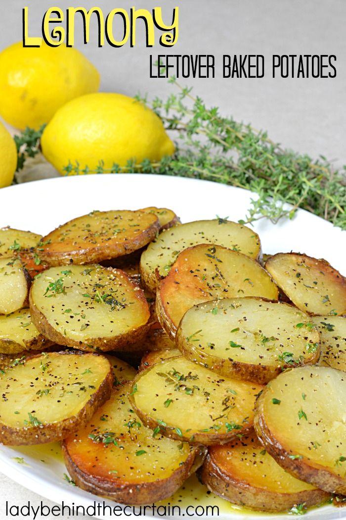 Lemony Leftover Baked Potatoes | Something new to try with your leftover baked potatoes!